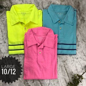 [Children's Place] Short Sleeve Neon Jersey Polo L